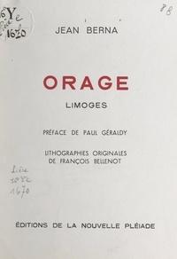 Jean Berna et François Bellenot - Orage - Limoges.