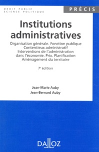 Jean-Bernard Auby et Jean-Marie Auby - .