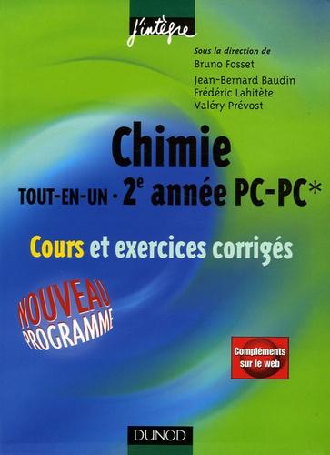 Jean-Bernard Baudin et Bruno Fosset - Chimie tout-en-un 2e année PC-PC* - Cours et exercices corrigés.