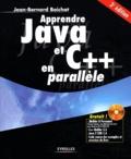 Jean-Bernard Boichat - Apprendre Java et C++ en parallèle. 1 Cédérom