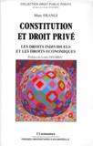 Jean-Bernard Racine - Constitution et droit privé - Les droits individuels et les droits économiques.