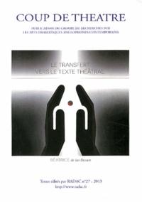 Jean Berton - Le transfert vers le texte théâtral - Beatrice - Béatrice de Planissoles de Ian Brown.