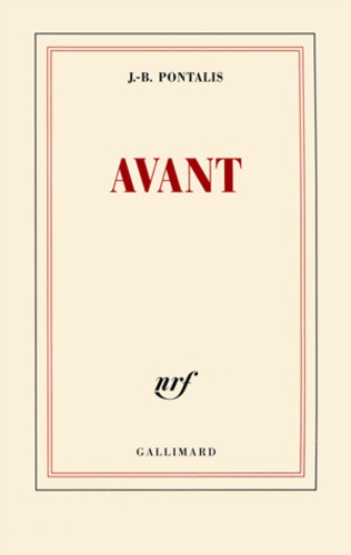 Jean-Bertrand Pontalis - Avant.