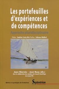 Jean Biarnès et José Rose - Les portefeuilles d'expériences et de compétences - Approche pluridisciplinaire.