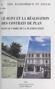 Jean Billet - Le suivi et la réalisation des contrats de plan dans le cadre de la planification - [séance du 13 mai 1997].