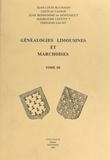 Jean Bonhomme de Montaigut et Louis de Vasson - Généalogies limousines et marchoises (3).