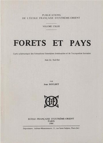 Jean Boulbet - Forêts et pays - Carte schématique des formations forestières dominantes et de l'occupation humaine, Asie du Sud-Est.
