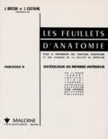 Jean Brizon et Jean Castaing - Les Feuillets d'anatomie - Tome 2, Ostéologie du membre inférieur.