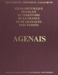 Jean Burias et  Monumenta historiae Galliarum - Atlas historique français : le territoire de la France et de quelques pays voisins - Agenais, Condomois, Bruilhois.