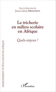 Jean Calvin Bipoupout - La tricherie en milieu scolaire en Afrique - Quels enjeux ?.