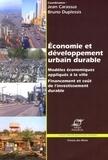 Jean Carassus et Bruno Duplessis - Economie et développement urbain durable.