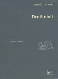 Jean Carbonnier - Droit civil - Coffret 2 tomes : Introduction, Les personnes, La famille, l'enfant, le couple ; Les biens, Les obligations.