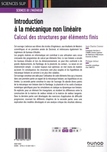 Introduction à la mécanique non linéaire. Calcul des structures par éléments finis