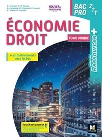Jean-Charles Diry et Marie-Madeleine Piroche - Economie Droit 2de 1re Tle Bac Pro Ressources Plus.