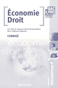 Economie Droit 2e Bac pro 3 ans- Corrigé - Jean-Charles Diry |