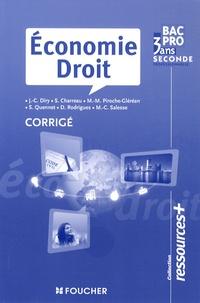 Alixetmika.fr Economie Droit 2e Bac pro - Corrigé Image