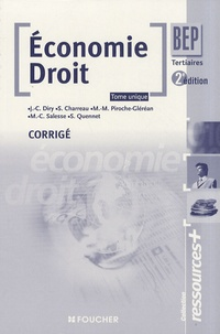 Jean-Charles Diry - Economie Droit BEP tertiaires - Corrigé.