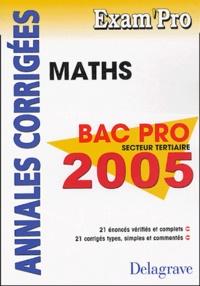 Mathématiques Bac Pro secteur tertiaire- Annales corrigées - Jean-Charles Juhel |