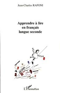Jean-Charles Rafoni - Apprendre à lire en français langue seconde.