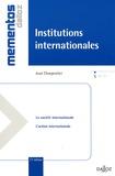 Jean Charpentier - Institutions internationales.