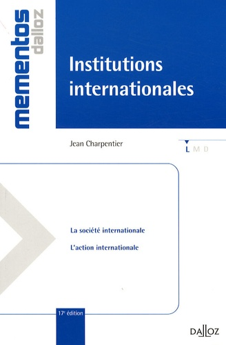 Jean Charpentier - Institutions internationales.