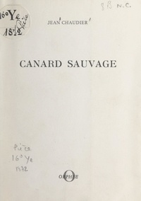 Jean Chaudier - Canard sauvage.