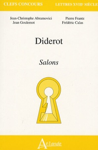 Jean-Christophe Abramovici et Jean-Marie Goulemot - Diderot - Salons.