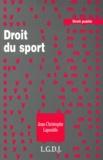 Jean-Christophe Lapouble - Droit du sport.