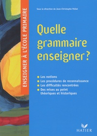 Jean-Christophe Pellat - Quelle grammaire enseigner ?.