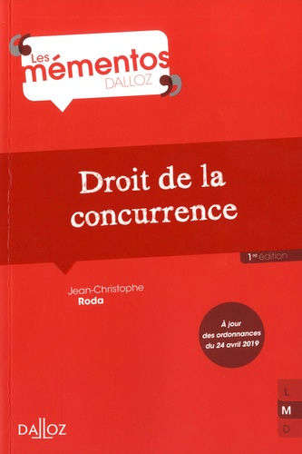 Jean-Christophe Roda - Droit de la concurrence.