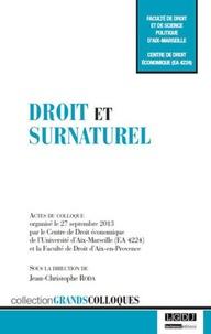 Jean-Christophe Roda - Droit et surnaturel.
