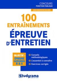 Jean-Christophe Saladin - 100 entraînements Epreuve d'entretien.