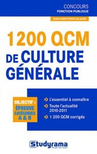 Jean-Christophe Saladin - 1200 QCM de culture générale.