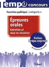 Jean-Christophe Saladin - Epreuves orales Catégorie C - Entretien et mise en situation.
