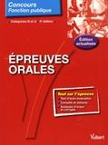 Jean-Christophe Saladin - Epreuves orales.