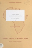 Jean-Claude Barbier - L'histoire présente - Exemple du royaume Kotokoli au Togo.