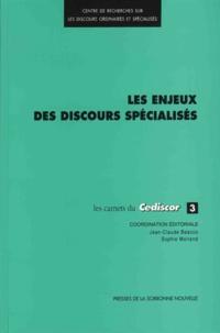 Jean-Claude Beacco et Sophie Moirand - Les enjeux des discours spécialisés.