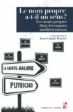 Jean-Claude Bouvier - Le nom propre a-t-il un sens ?.