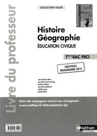 Histoiresdenlire.be Histoire Géographie Education civique Tle Bac Pro - Livre du professeur Image