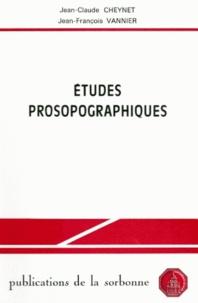 Jean-Claude Cheynet - Etudes prosopographiques.