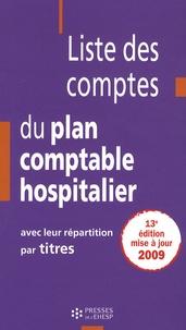 Liste des comptes du plan comptable hospitalier avec leur répartition par titres.pdf