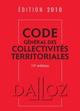 Jean-Claude Douence - Code général des collectivités territoriales 2010.
