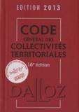Jean-Claude Douence - Code général des collectivités territoriales 2013.