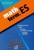 Jean-Claude Jovet et Marcel Quesnel - Math, term. ES.