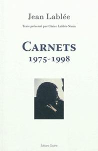 Jean-Claude Lablée - Carnets - 1975-1998.