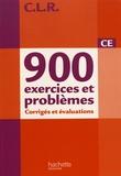 Jean-Claude Lucas et Janine Lucas - 900 exercices et problèmes CE - Corrigés et évaluations, programmes 2008.