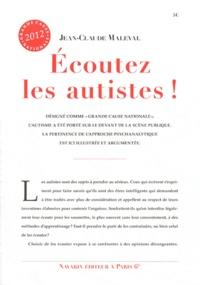 Jean-Claude Maleval - Ecoutez les autistes !.