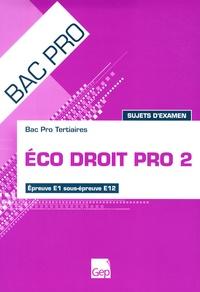 Eco Droit Pro 2 Bac Pro Tertiaires Epreuve E1 sous-épreuve E12 - Sujet dexamen.pdf