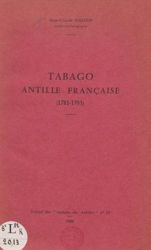 Tabago, Antille française (1781-1793)