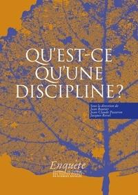Jean-Claude Passeron et Jean Boutier - Qu'est-ce qu'une discipline ?.